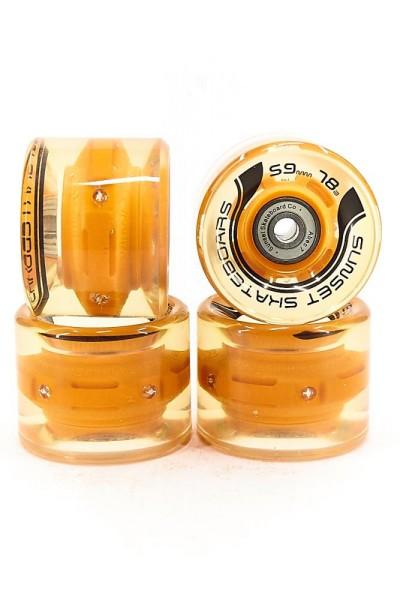 SUNSET Flare LED Wheels Set 59mm 78a orange