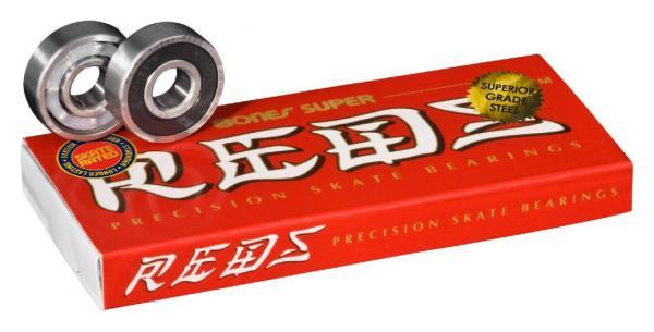 Bones® Super REDS® Skateboard Bearings 8er Pack