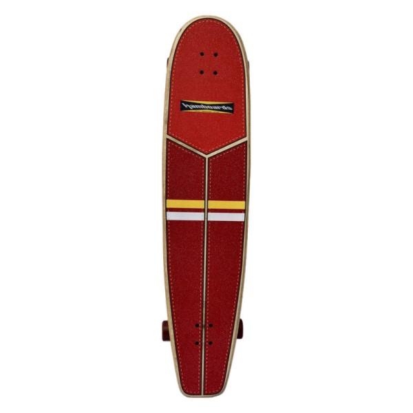"Hamboards Huntington Hop Carving 45"" Surf Skate Complete Red Orange Yellow White bei Brettsport.de"