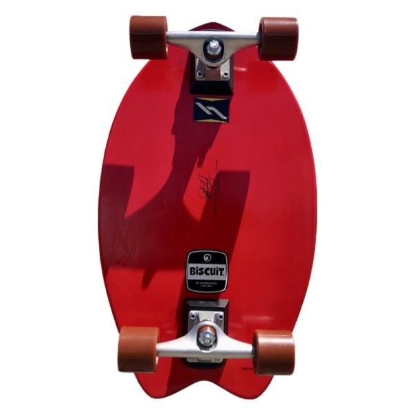 """Hamboards Biscuit Shortboard 24"""" Surf Skate Complete Red Bolt bei Brettsport.de"""