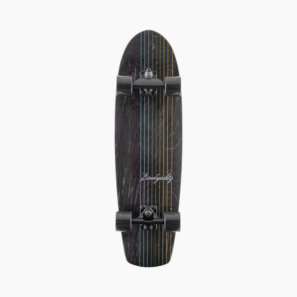 "LANDYACHTZ BUTTER BLACK LINES 31"" - SURFSKATE COMPLETE"