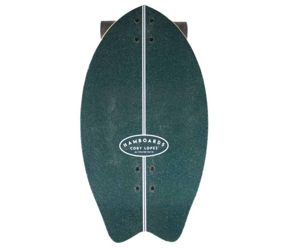 "Hamboards Twisted Fin 26"" Surf Skate Complete Dark Teal bei Brettsport.de"