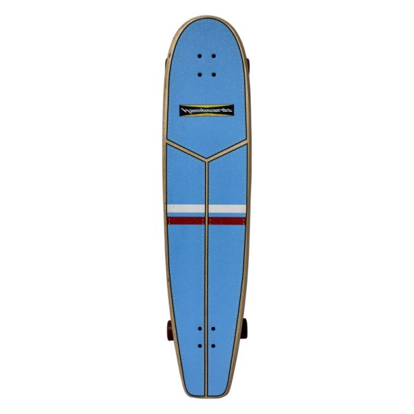 "Hamboards Huntington Hop Carving 45"" Surf Skate Complete Light Blue Red White bei Brettsport.de"