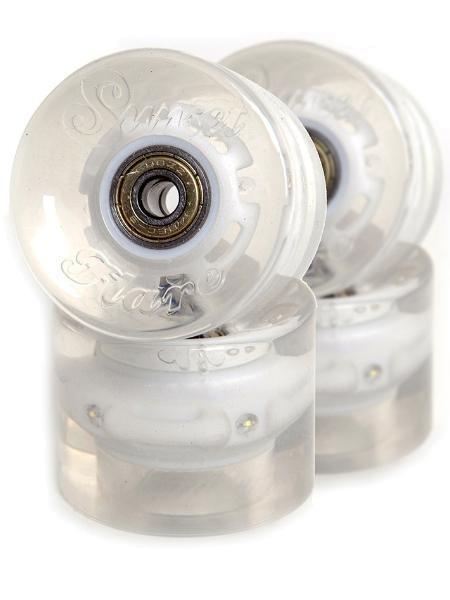 SUNSET Flare LED Wheels Set 65mm 78a white