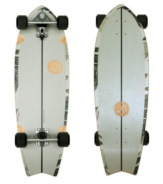 "Slide Surfskateboard FISH PAVONES 32"""
