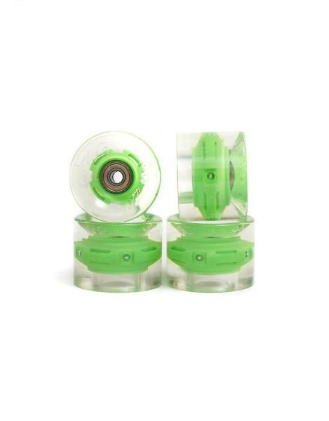 SUNSET Flare LED Wheels Set 65mm 78a green