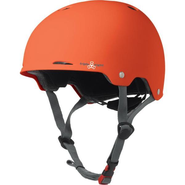 Triple Eight Gotham Helm Orange Rubber