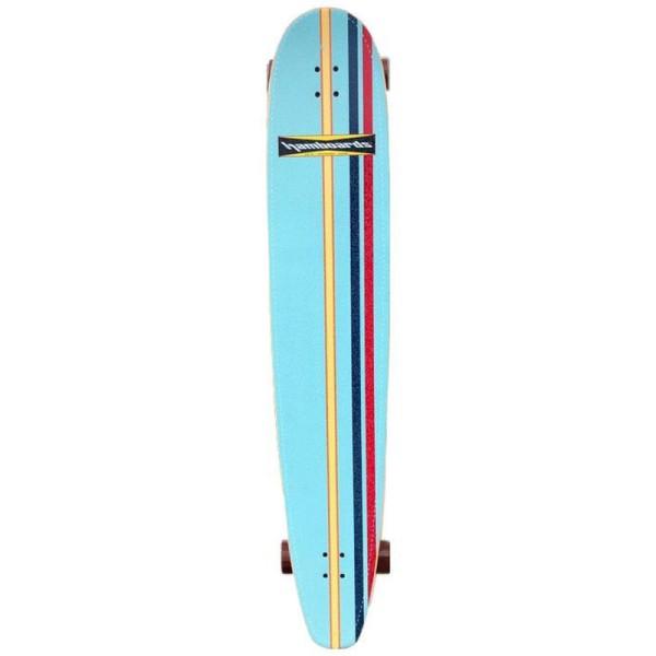 """Hamboards Logger 60"""" Surf Skate Complete Light Blue Leg Stripes bei Brettsport.de"""