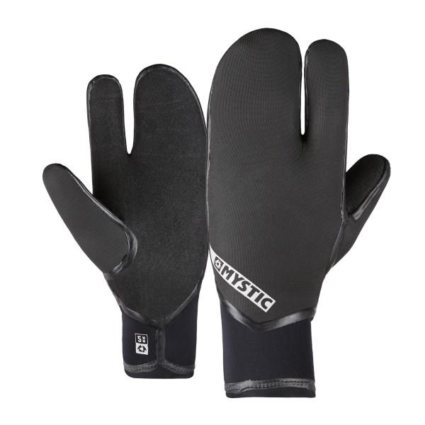 Mystic Supreme Glove 5mm Lobster - Black bei brettsport.de