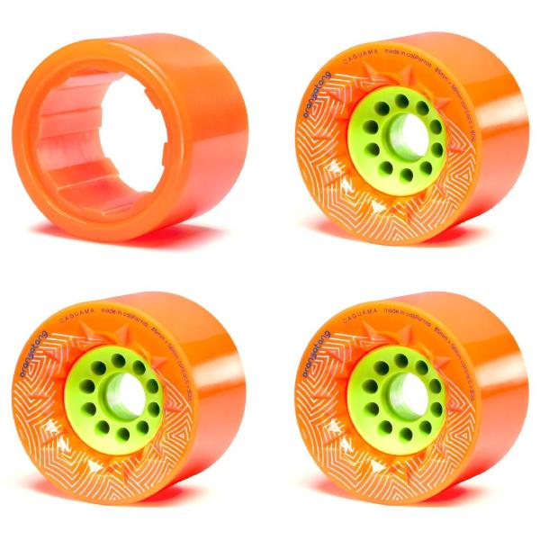 Unlimited Solo/Cruiser Wheel Pack Orange (3 Caguamas + 1 Sleeve) 80a