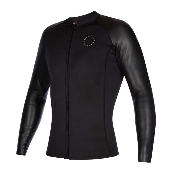 Mystic L/S Neoprene vest Fzip - Black bei brettsport.de