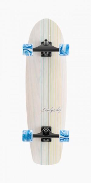 "LANDYACHTZ BUTTER WHITE OAK LINES 31"" - SURFSKATE COMPLETE"