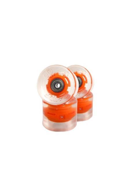 SUNSET Flare LED Wheels Set 65mm 78a orange