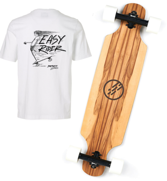 JayKay Elektro Longboard JEEBS mit Gratis T-Shirt