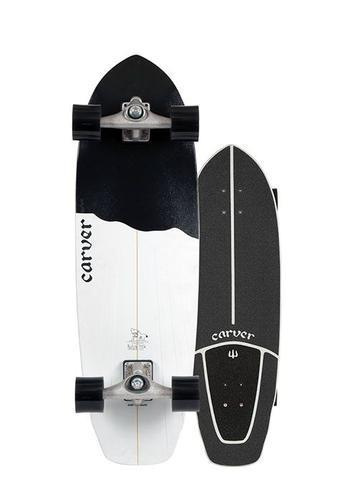 "Carver Black Tip 32.5"" Surfskate CX 2020"