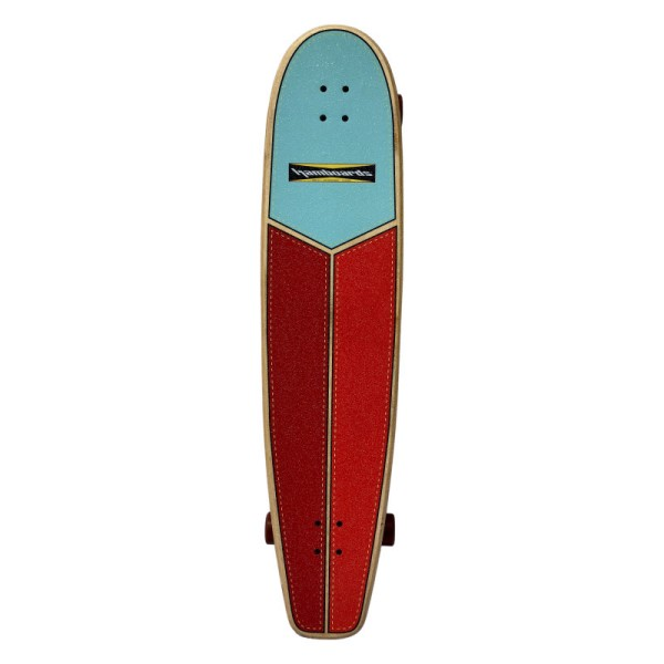 """Hamboards Huntington Hop Carving 45"""" Surf Skate Complete Light Blue Orange Red bei Brettsport.de"""