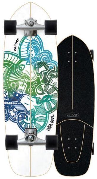 Carver Yago Skinny Goat Surfskate Complete