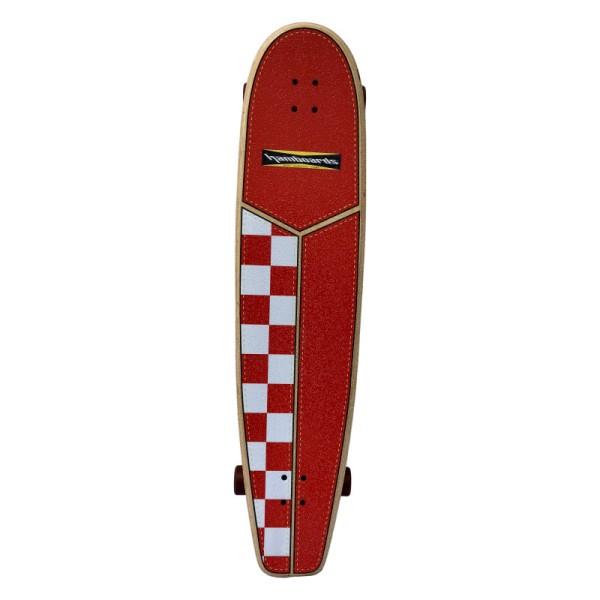 "Hamboards Huntington Hop Carving 45"" Surf Skate Complete Orange White Checkers bei Brettsport.de"