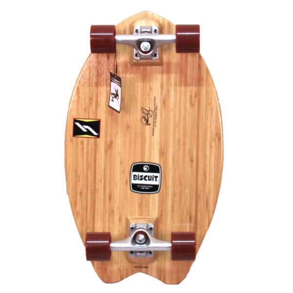 "Hamboards Biscuit Shortboard 24"" Surf Skate Complete Natural Bamboo bei Brettsport.de"