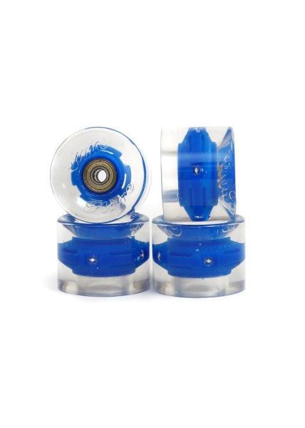 SUNSET Flare LED Wheels Set 69mm 78a blue