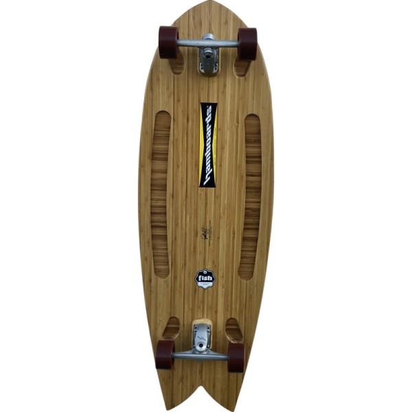 "Hamboards Fish 53"" Surf Skate Complete Bamboo Natural bei Brettsport.de"