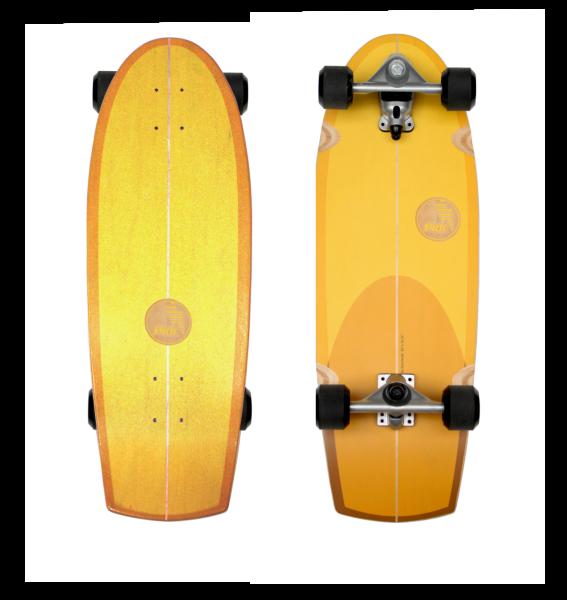 "Slide Surfskateboard Sunset Quad 30"""