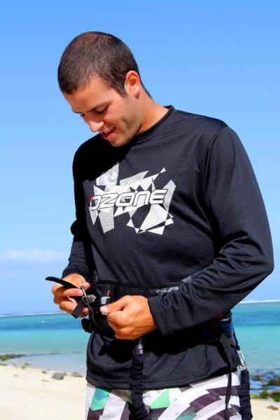 Ozone Technical T-Shirt Long Sleeve Black